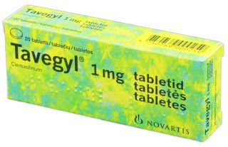TAVEGYL 1mg tabletes, 20 gb.